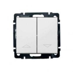 Переключатель для жалюзи 2-клавишный кнопочный Legrand VALENA CLASSIC, белый, 774414