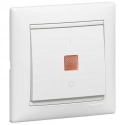 Выключатель 1-клавишный Legrand VALENA CLASSIC, с подсветкой, скрытый монтаж, белый, 774449