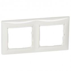 Рамка 2 поста Legrand VALENA CLASSIC, белый, 774452
