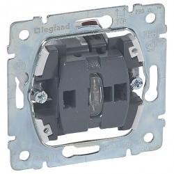 Механизм выключателя 1-клавишного Legrand GALEA LIFE, с подсветкой, скрытый монтаж, 775601