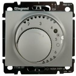 Термостат для теплого пола Legrand GALEA LIFE, с датчиком, алюминий, 775689