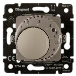 Термостат для теплого пола Legrand GALEA LIFE, с датчиком, титан, 775690