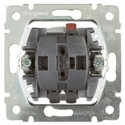 Механизм выключателя 1-клавишного кнопочного Legrand GALEA LIFE, скрытый монтаж, 775811