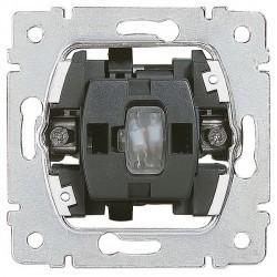 Механизм выключателя 1-клавишного кнопочного Legrand GALEA LIFE, с подсветкой, скрытый монтаж, 775813