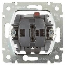 Механизм выключателя 1-клавишного кнопочного Legrand GALEA LIFE, скрытый монтаж, 775817