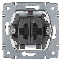Механизм выключателя 1-клавишного двухполюсного Legrand GALEA LIFE, с подсветкой, скрытый монтаж, 775822