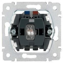 Механизм переключателя 1-клавишного Legrand GALEA LIFE, с подсветкой, скрытый монтаж, 775846