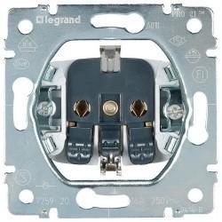 Розетка Legrand GALEA LIFE, скрытый монтаж, с заземлением, алюминий, 775920