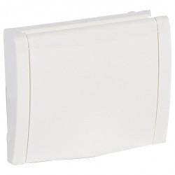 Накладка на розетку Legrand GALEA LIFE, с заземлением, со шторками, с крышкой, белый, 777022