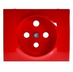 Накладка на розетку Legrand GALEA LIFE, с заземлением, красный, 777023