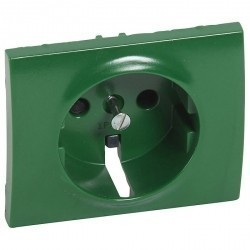 Накладка на розетку Legrand GALEA LIFE, с заземлением, с крышкой, зеленый, 777034