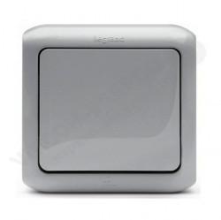 Выключатель 1-клавишный Legrand QUTEO, открытый монтаж, серый, 782330