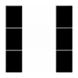 LS990 Комплект накладок, три пары, черный