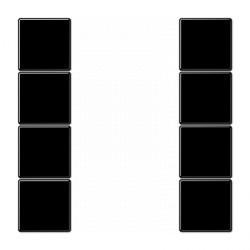 LS990 Комплект накладок, четыре пары, черный