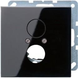 Накладка на аудиорозетку Jung LS 990, черный, LS962SW