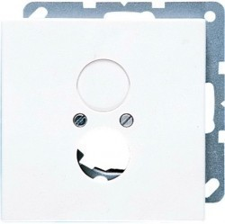 Накладка на аудиорозетку Jung LS 990, белый, LS962WW