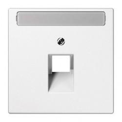 Накладка на розетку информационную Jung LS 990, белый, LS969-1NAUAWW