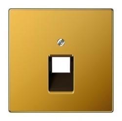 Накладка на розетку информационную Jung LS METAL, золотой, LS969-1UAGGO