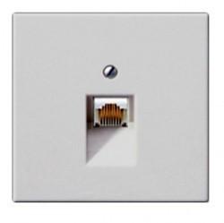 Накладка на розетку информационную Jung LS 990, светло-серый, LS969-1UALG