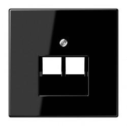 Накладка на розетку информационную Jung LS 990, черный, LS969-2UASW