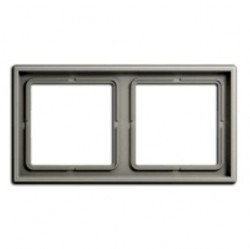 Рамка 2 поста Jung LS 990, светло-серый, LS982LG