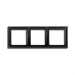 Рамка 3 поста Jung LS 990, черный, LS983SW