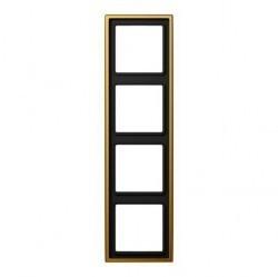 Рамка 4 поста Jung LS METAL, золотой, LS984GGO