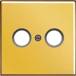 Накладка на розетку телевизионную Jung LS METAL, золотой, LS990TVGGO