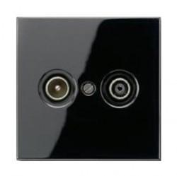 Накладка на розетку телевизионную Jung LS 990, черный, LS990TVSW