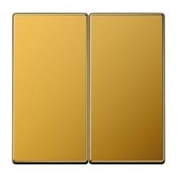 Клавиша двойная Jung LS METAL, золотой, LS995GGO