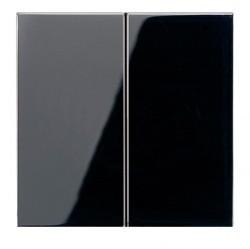 Клавиша двойная Jung LS 990, черный, LS995SW