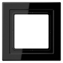 Рамка 1 пост Jung LS DESIGN, черный, LSD981SW