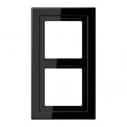 Рамка 2 поста Jung LS DESIGN, черный, LSD982SW