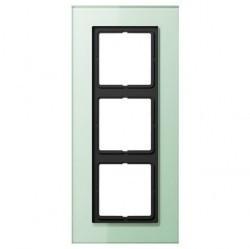 Рамка 3 поста Jung LS PLUS, светло-зеленый, LSP983GLAS