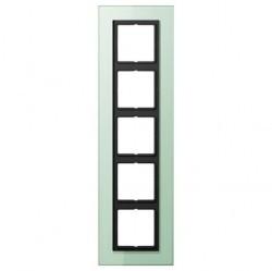 Рамка 5 постов Jung LS PLUS, светло-зеленый, LSP985GLAS