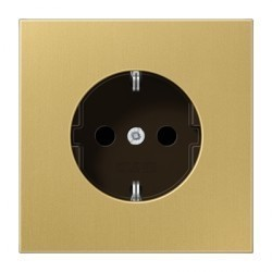 Розетка Jung LS METAL, скрытый монтаж, с заземлением, бронзовый, ME1521C