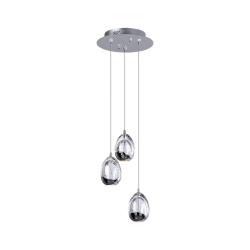 Светильник BENETTI Modern Goccia подвесной хром LED 3х4,8Вт 3000K MOD-001-1600-03/P