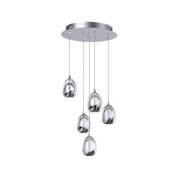 Светильник BENETTI Modern Goccia подвесной хром, LED 5х4,8W 3000K MOD-001-1600-05/P
