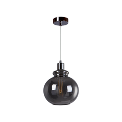 Светильник BENETTI Modern Fusione подвесной серый/дымчатый 1xE27 MOD-020-9600-01/P