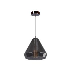 Светильник BENETTI Modern Fusione подвесной серый/дымчатый 1xE27 MOD-024-9600-01/P