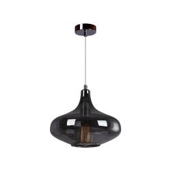 Светильник BENETTI Modern Fusione подвесной серый/дымчатый 1xE27 MOD-026-9600-01/P