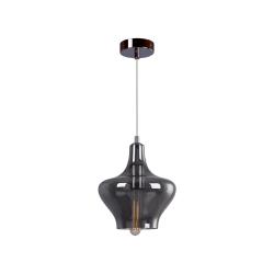 Светильник BENETTI Modern Fusione подвесной серый/дымчатый 1xE27 MOD-027-9600-01/P