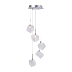 Светильник BENETTI Modern Kubo подвесной хром 5хG9 MOD-031-1600-05/P