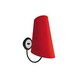 Бра BENETTI Modern Bizzarro черный/красный 1хE27 MOD-406-8690-01/B