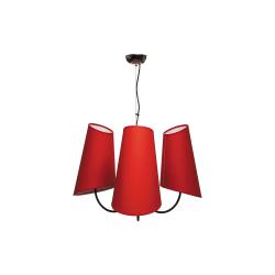 Люстра BENETTI Modern Bizzarro черный/красный 3хE27 MOD-406-8690-03/C
