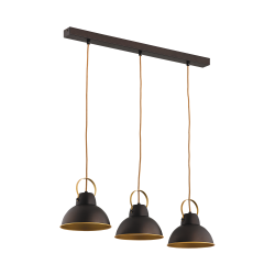 Светильник BENETTI Modern Loft темный венге/золото 3xE27 MOD-411-8020-03/P