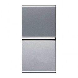 Выключатель 1-клавишный двухполюсный ABB ZENIT, скрытый монтаж, серебристый, N2101.2 PL