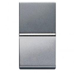 Переключатель 1-клавишный ABB ZENIT, скрытый монтаж, серебристый, N2102 PL