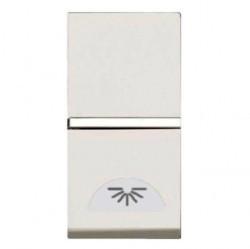 Выключатель 1-клавишный кнопочный ABB ZENIT, скрытый монтаж, альпийский белый, N2104.2 BL