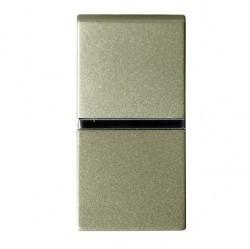 Выключатель 1-клавишный кнопочный ABB ZENIT, скрытый монтаж, шампань, N2104.7 CV